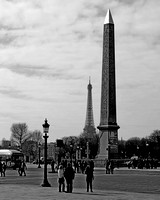 Obelisk and Tower, Paris